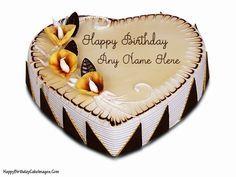 Birthday Cakes Images To Write Name ~ Write name on fig and honey birthday cake online cakes pinterest