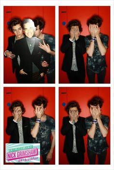 Nick Grimshaw with Harry