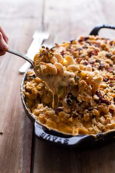 Butternut Squash + Brussels Sprouts in Mac n' Cheese with Buttery Bacon Ritz Crackers