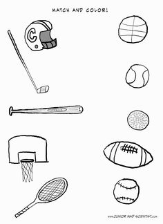 Sports Balls Coloring Page … Siyasiza activities Sport…