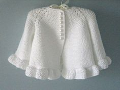 Knitted Pattern Baby Jacket Baby Cardigan Garter Stitch Knitted Pattern Baby Jacket Newborn Girl Coat Cardigan Baby PATTERN - Diy and craft Crochet Baby Cardigan, Crochet Jacket, Cardigan Pattern, Sweater Knitting Patterns, Knit Patterns, Knitted Baby, Jacket Pattern, Baby Knitting Patterns Free Newborn, Knitting Baby Girl