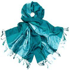 étole pashmina tissée motifs  émeraude #étole #pashmina #émeraude #mesecharpes.com http://www.mesecharpes.com/etole/etole-pashmina/etole-pashmina-emeraude-motifs-tisses-kara.html