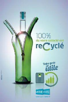 Campagne sur le recyclage du verre - Saint-Nazaire Agglomération