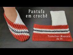 Crochet Shoes Pattern, Crochet Stitches Patterns, Crochet Designs, Knitting Patterns, Free Crochet Slipper Patterns, Easy Crochet Slippers, Crochet Boots, Crochet Baby, Knitting Socks