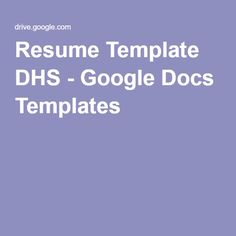 Creative Neue  Google Docs Templates  Personal  Job Hunting