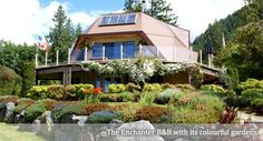 The Enchanter Bed and Breakfast Ocean view Accommodations: Geodesic Dome House in Pender Harbour - Sunshine Coast BC