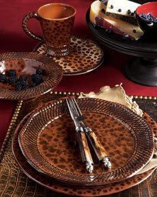 Animal Print Dinnerware Flatware Leopard Fashion Tiger Prints Tablescapes Cheetah