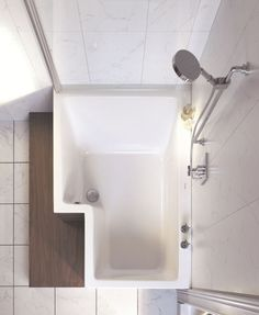 Small Soaking Bathtub / Shower combo Great for small bathrooms ...