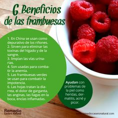 6 beneficios de las frambuesas