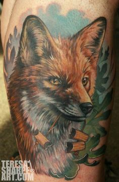 Fox critter tattoo - 50+ Examples of Fox Tattoo | Art and Design