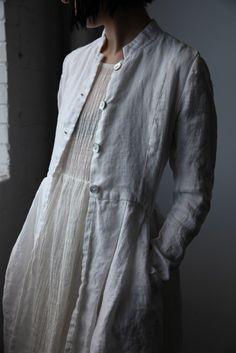 Róisín Linen Jacket - White