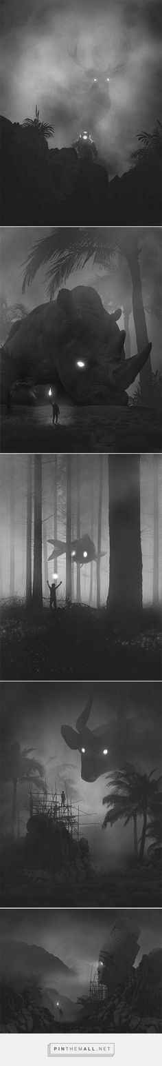 Polish Artist Dawid Planeta Illustrates His Fight Against Depression In Mysterious Dark And Surreal Paintings - created via https://pinthemall.net