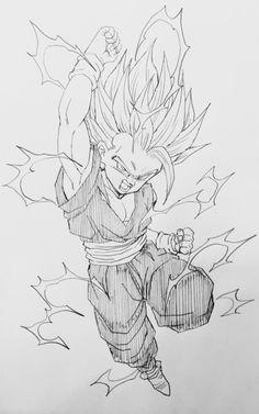 """""""Warrior of rage!"""" Drawn by: Young Jijii! #SonGokuKakarot"""