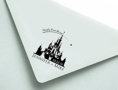 Personalized Stamp: 2.5x2.5 Disney Wedding by MineByDesignStudio