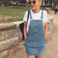 f39e38c308 How To Wear Overalls Like a Damn Adult. Denim Overall DressOverallsUrban ...