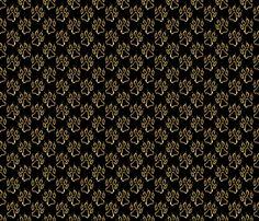 Faux metalic gold dog paw prints fabric by rusticcorgi on Spoonflower - custom fabric