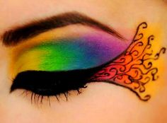 Rainbow colors ❖de l'arc-en-ciel❖❶Toni Kami Colorful eye shadow makeup