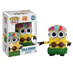 This is the Hula Minion POP Vinyl figure produced by Funko. The Hula Minion is from the animated movie Despicable me and he's awesome. The Minions were so popular in Despicable Me that they're soon to Minion Toy, Despicable Me 2 Minions, Minion 2015, Funny Minion, Funny Jokes, Pop Vinyl Figures, Elvis Presley, Pop Figurine, Despicable Me