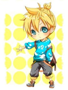 New Link From Zelda Chibi By Len Actually This Isnt Wii U Is Kagamine Vocaloid Not