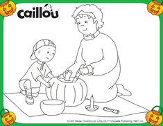 Caillou's Carving Fun – Coloring Sheet