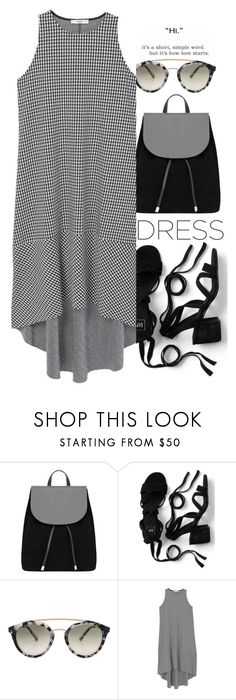 """""""Simple Dress"""" by colorful-jovana ❤ liked on Polyvore featuring MANGO, Westward Leaning, Love Quotes Scarves, mango, gingham, polyvorecontest and throwandgo"""