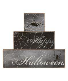 Another great find on #zulily! 'Happy Halloween' Block Sign #zulilyfinds