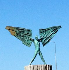 Icarus. Ennis Ennis Ireland, Sculpture Art, Sculptures, Just Beauty, Public Art, Monuments, Statues, Irish, Beautiful Places