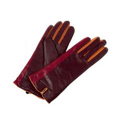 Berry Blast Long Leather Gloves