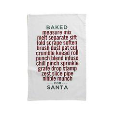 Baked For Santa Dishtowel | Crate and Barrel