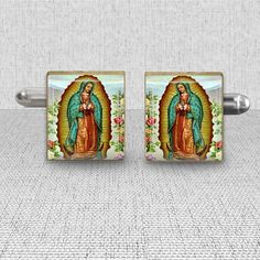 Men's Jewelry Cuff Links Our Lady of by MissingPiecesStudio