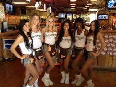 Orlando (I-Drive), FL Hooters Girls - Military Uniforms