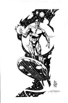 Marvel Comics Art, Marvel Comic Books, Marvel X, Comic Book Heroes, Captain Marvel, Surfer Tattoo, Avengers Wallpaper, Silver Surfer, Best Artist