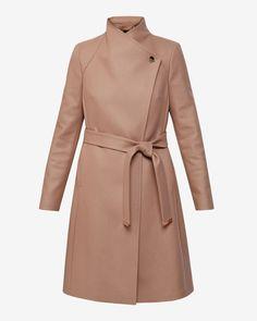 Long wrap coat - Camel | Jackets & Coats | Ted Baker UK