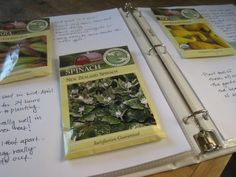 Gardening Binder: Great way to keep track of what works and what doesn't from year to year!