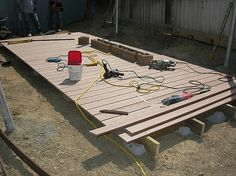 floating deck DIY
