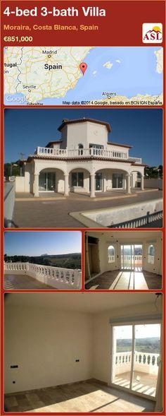 4-bed 3-bath Villa in Moraira, Costa Blanca, Spain ►€851,000 #PropertyForSaleInSpain