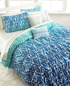 Seventeen Ombre Ikat Full/Queen Comforter Set - Bed in a Bag - Bed & Bath - Macy's