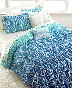 Seventeen Ombre Ikat Full/Queen Comforter Set - Bed in a Bag - Bed & Bath - Macy's
