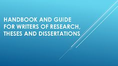 Complete Guide and Handbook for Writers of Research,Theses and Dissertations These guide for writers of Research,Theses and Disser. Kindergarten Lesson Plans, Thesis, Research, Writers, How To Plan, Reading, Search, Sign Writer, Word Reading