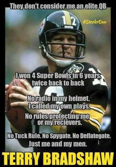 Not a Steelers fan but i like Terry Bradshaw. Here We Go Steelers, Pittsburgh Steelers Football, Pittsburgh Sports, Best Football Team, Steelers Stuff, Pitsburgh Steelers, School Football, Football Season, Pittsburgh City