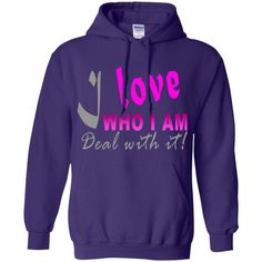 I love who I am! Pullover Hoodie 8 oz