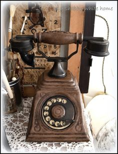 old phone - my shabby white home