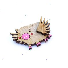 Wooden+Laser+Cut+Flying+Pig+by+solittletimeco+on+Etsy,+$35.00