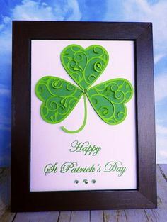 Great idea for using the heart cutting shapes in a St.Pat's card. Try this. DM