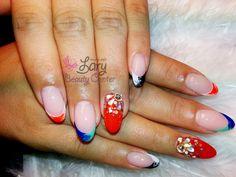 unghii migdala cu french permanent colorat  http://www.larybeautycenter.ro/servicii/unghii-cu-gel-sau-acryl