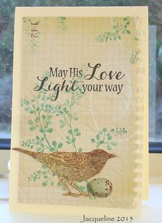 May His Love.. | Flickr - Photo Sharing! Nature Walk Stampin' Up Florilèges design Sentiment Hero Arts