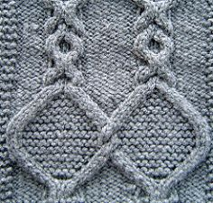 Ravelry: Medallion Cables Square pattern by Terry Morris