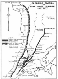 76 best hudson line images new york central railroad lo otive EMD E1 map of the electric division and new york terminal district