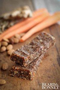 Carrot Cake Raw Bars (Gluten Free and Vegan) - Beard + Bonnet