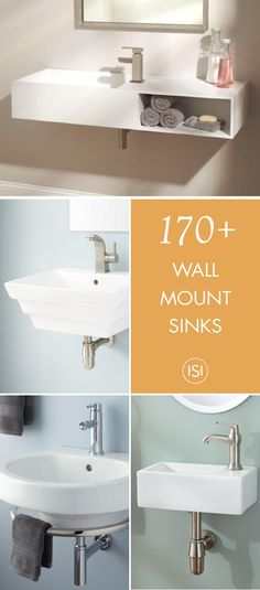 We Totally Understand, Sometimes Youu0027re Just Short On Space. This  Collection Of Wall Mount Sinks From Signature Hardware Will Be The Answer  To Your Tiny ...